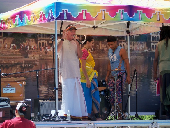 Caru Das of the Spanish Forks, Utah Krishna Temple brings the Festival of Colors to Reno, Nevada on July 18, 2015