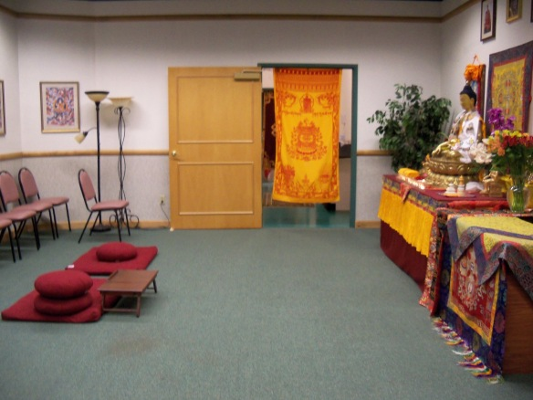 One of the rooms at the Reno Dharmakaya Center
